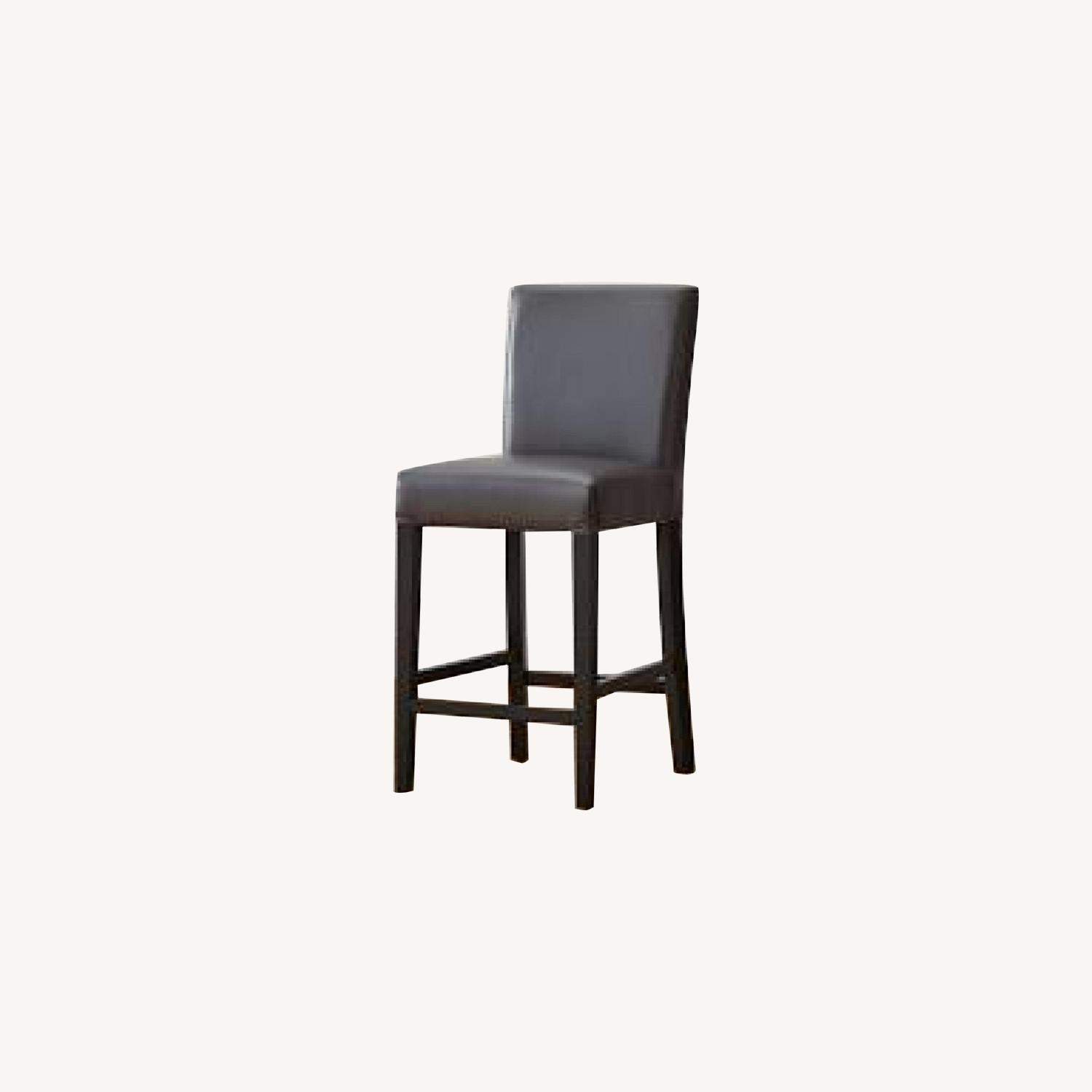 Crate & Barrel Grey/Gray Counter Chair/Stool - image-0