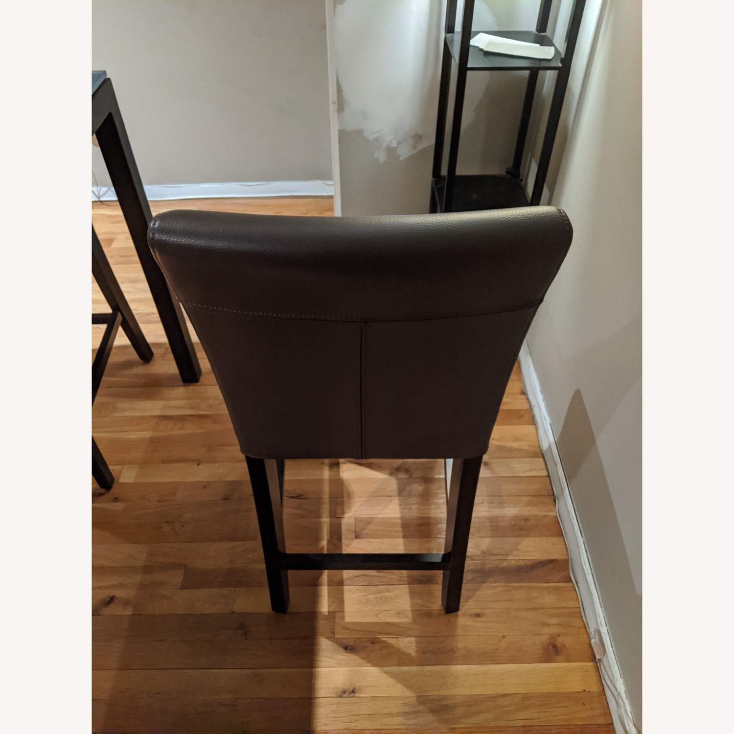 Crate & Barrel Grey/Gray Counter Chair/Stool - image-2