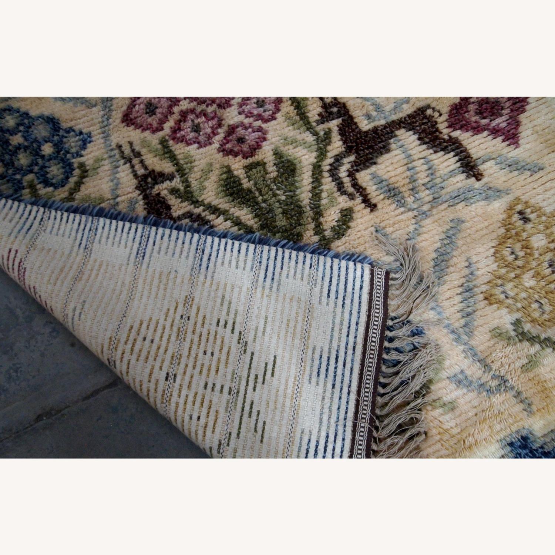 Handmade Vintage Scandinavian Rya Rug
