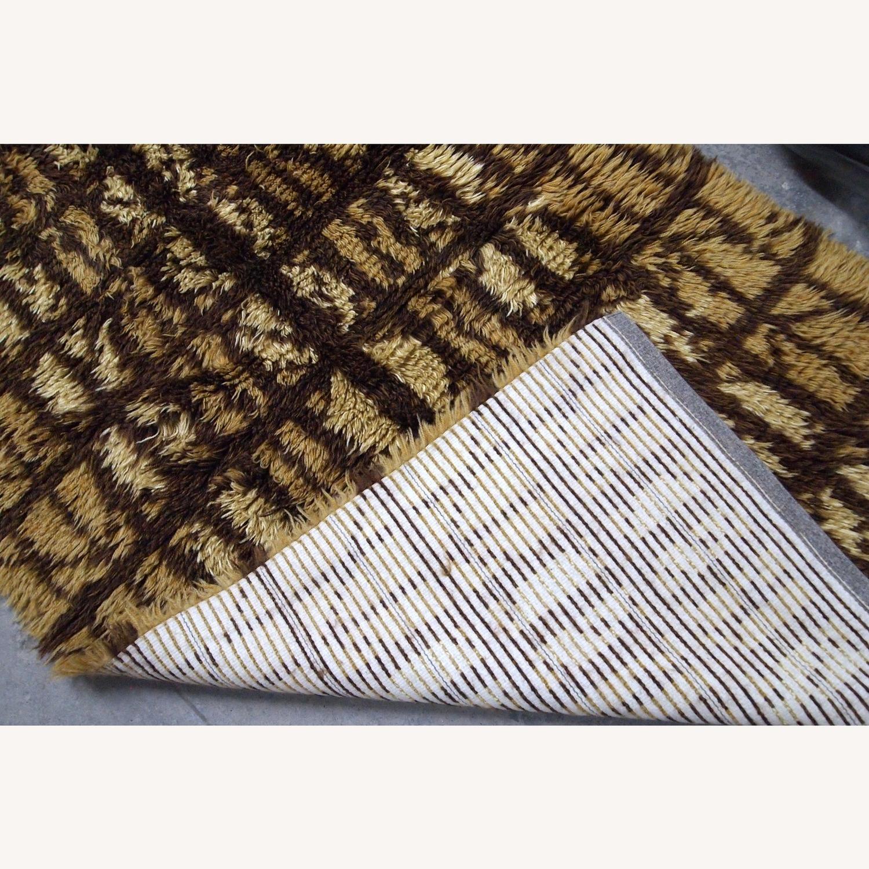 Handmade Vintage Swedish Rya Rug - image-1