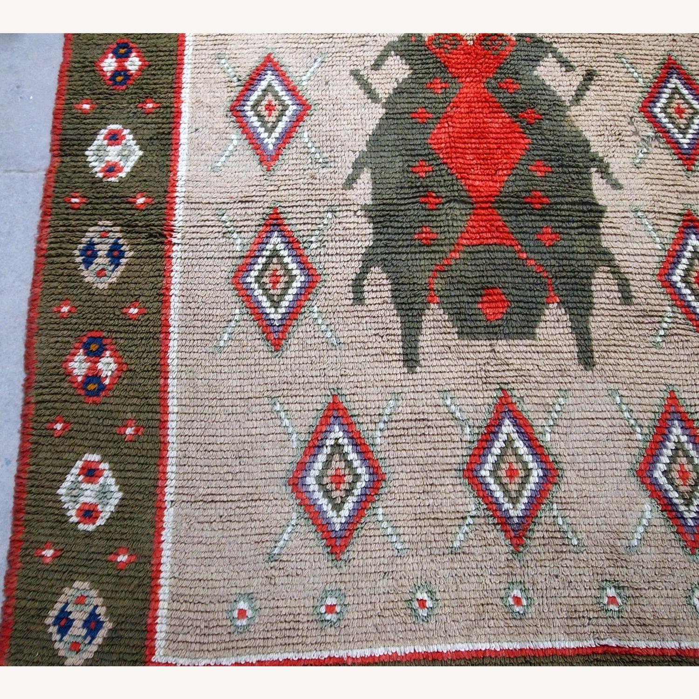 Handmade Vintage Scandinavian Pile Rug - image-7