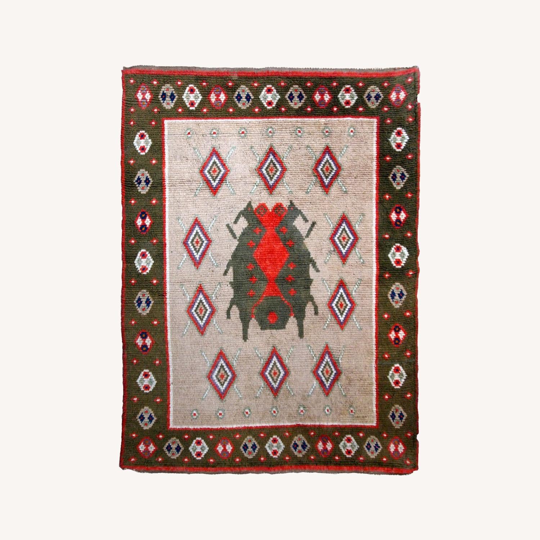 Handmade Vintage Scandinavian Pile Rug - image-0
