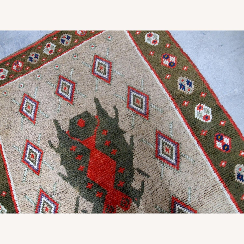 Handmade Vintage Scandinavian Pile Rug - image-3