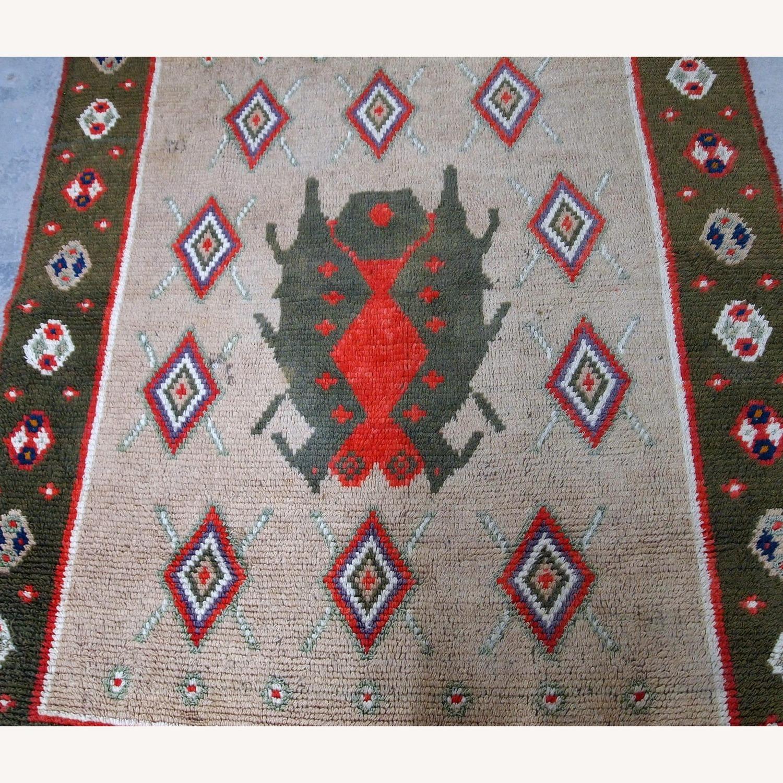 Handmade Vintage Scandinavian Pile Rug - image-6