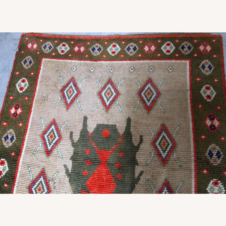 Handmade Vintage Scandinavian Pile Rug - image-4