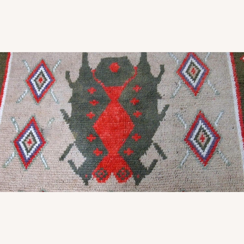 Handmade Vintage Scandinavian Pile Rug - image-1