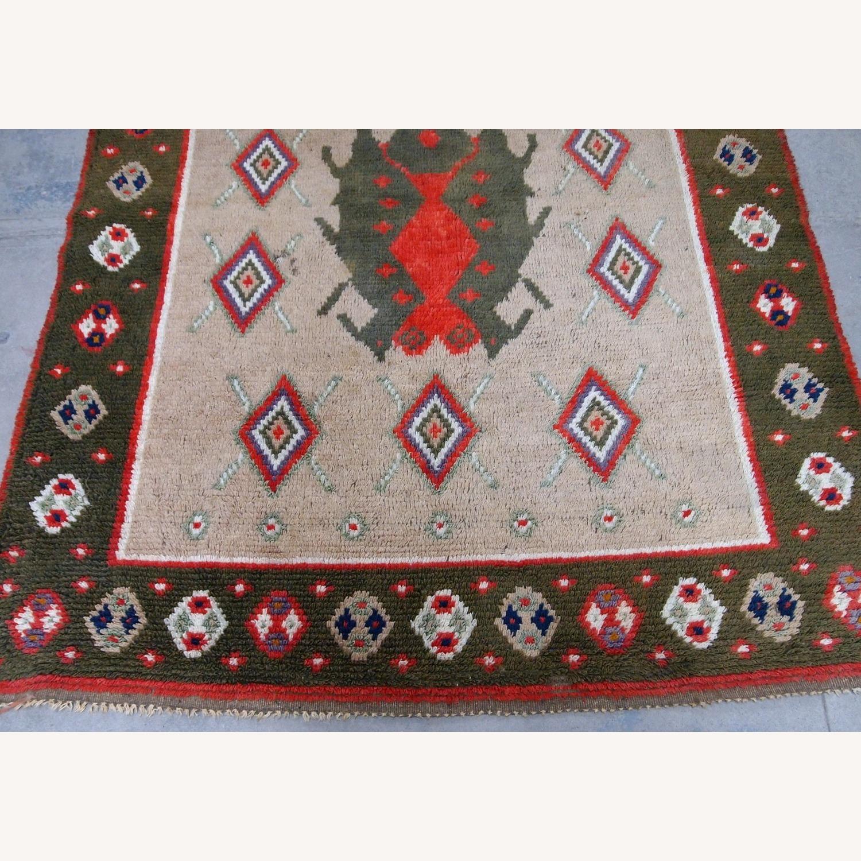 Handmade Vintage Scandinavian Pile Rug - image-5