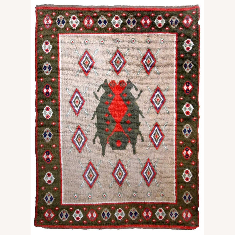 Handmade Vintage Scandinavian Pile Rug - image-8