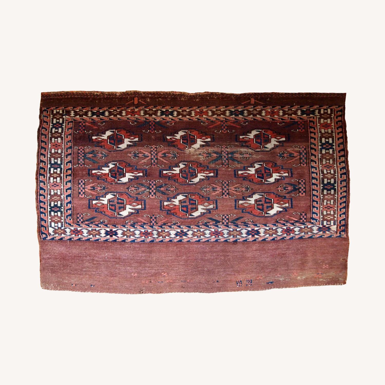 Handmade Antique Turkmen Yomud Rug - image-0