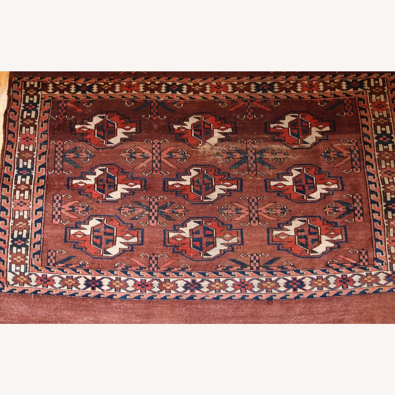 Handmade Antique Turkmen Yomud Rug - image-3