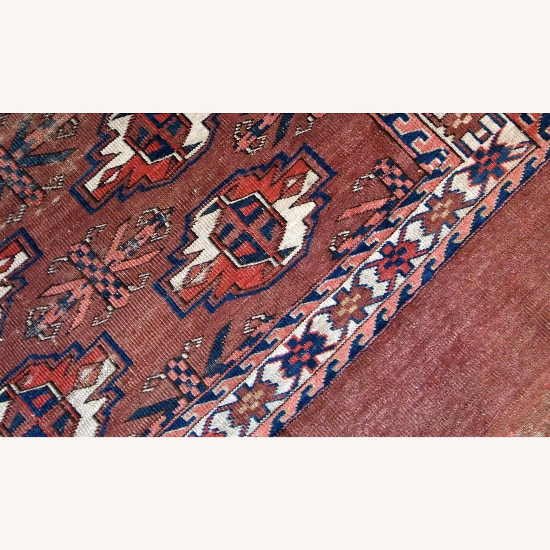Handmade Antique Turkmen Yomud Rug - image-6