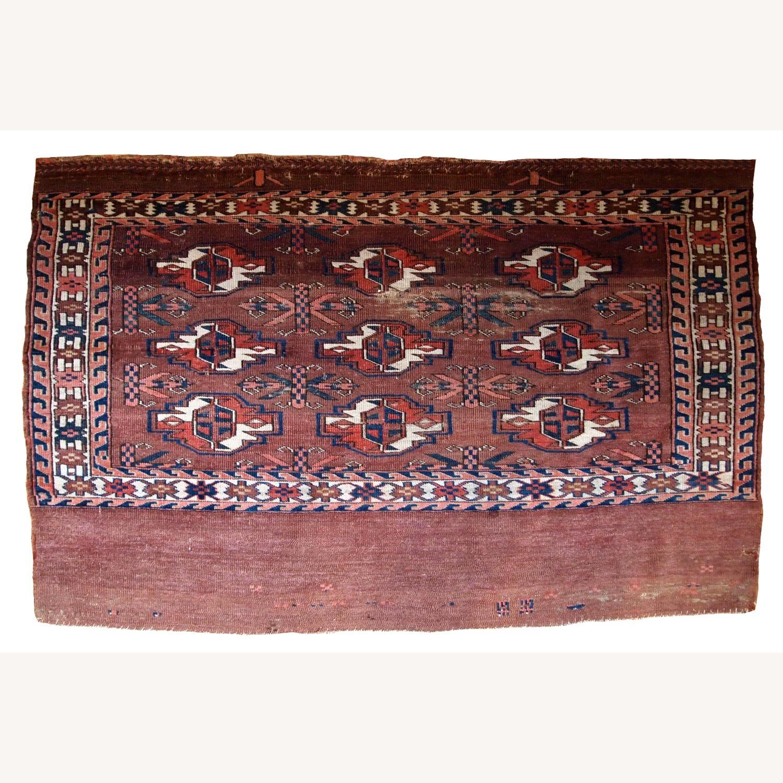 Handmade Antique Turkmen Yomud Rug - image-1