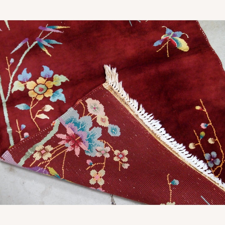 Handmade Antique Art Deco Chinese Rug - image-4