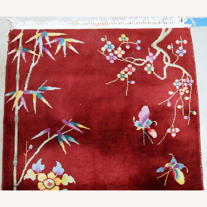 Handmade Antique Art Deco Chinese Rug - image-6