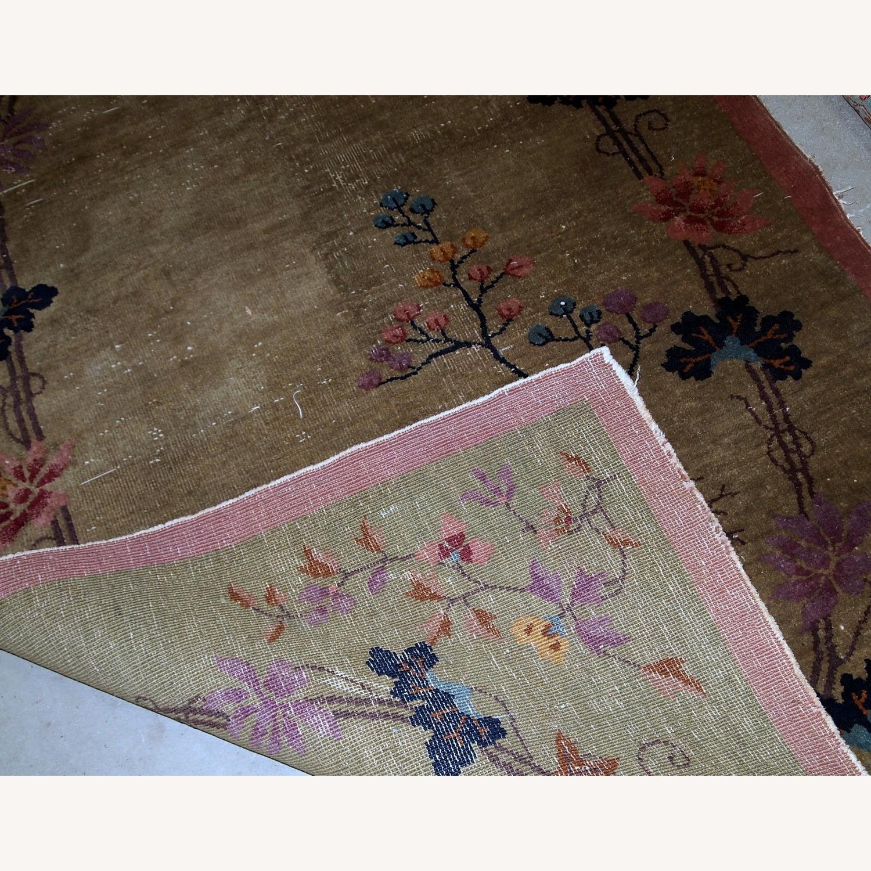 Handmade Antique Art Deco Chinese Rug