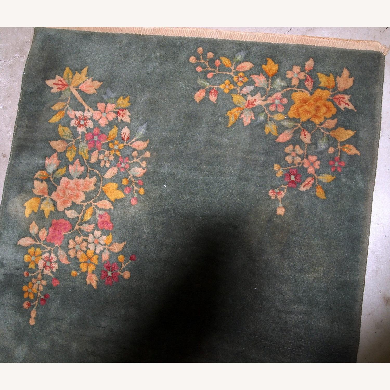 Handmade Antique Art Deco Chinese Rug - image-8