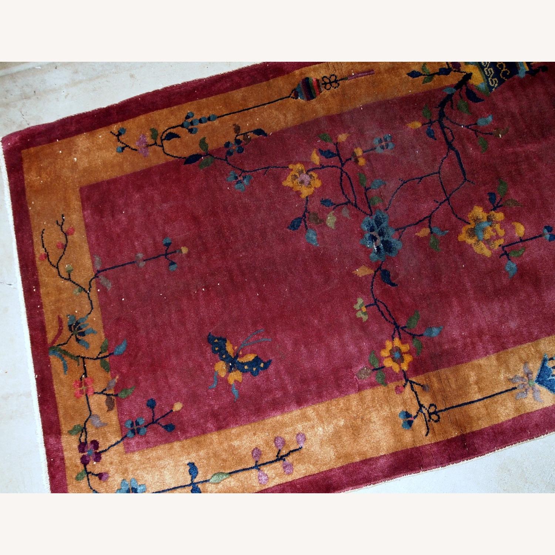 Handmade Antique Art Deco Chinese Rug - image-7