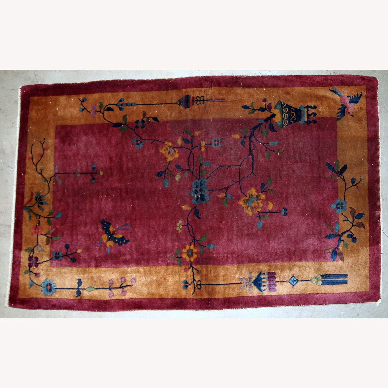 Handmade Antique Art Deco Chinese Rug - image-11