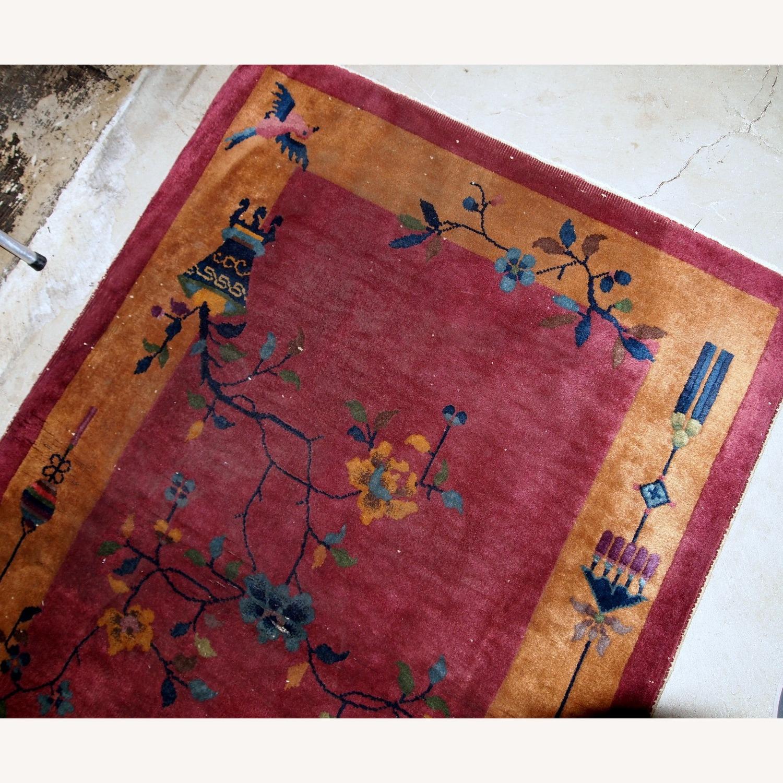 Handmade Antique Art Deco Chinese Rug - image-10