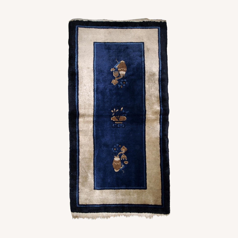 Handmade Antique Peking Chinese Rug - image-0