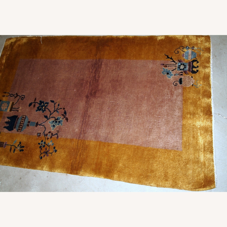 Handmade Antique Art Deco Chinese Rug - image-14