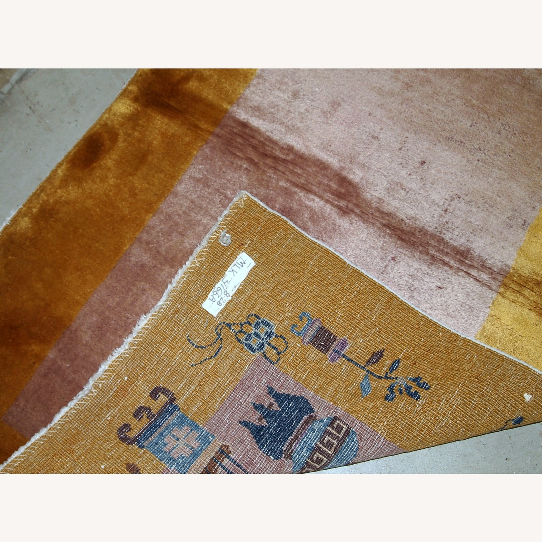 Handmade Antique Art Deco Chinese Rug - image-3