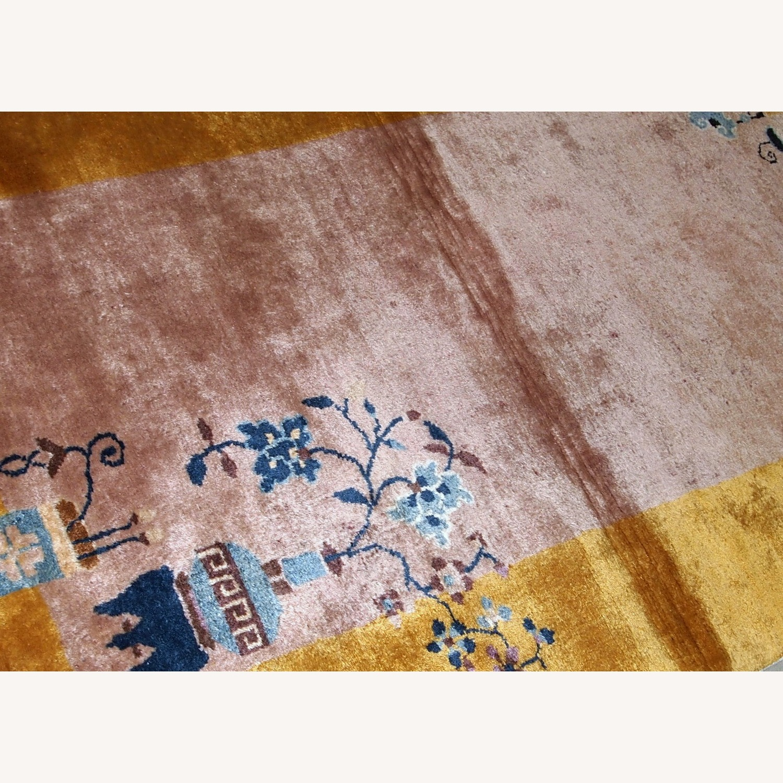 Handmade Antique Art Deco Chinese Rug - image-5