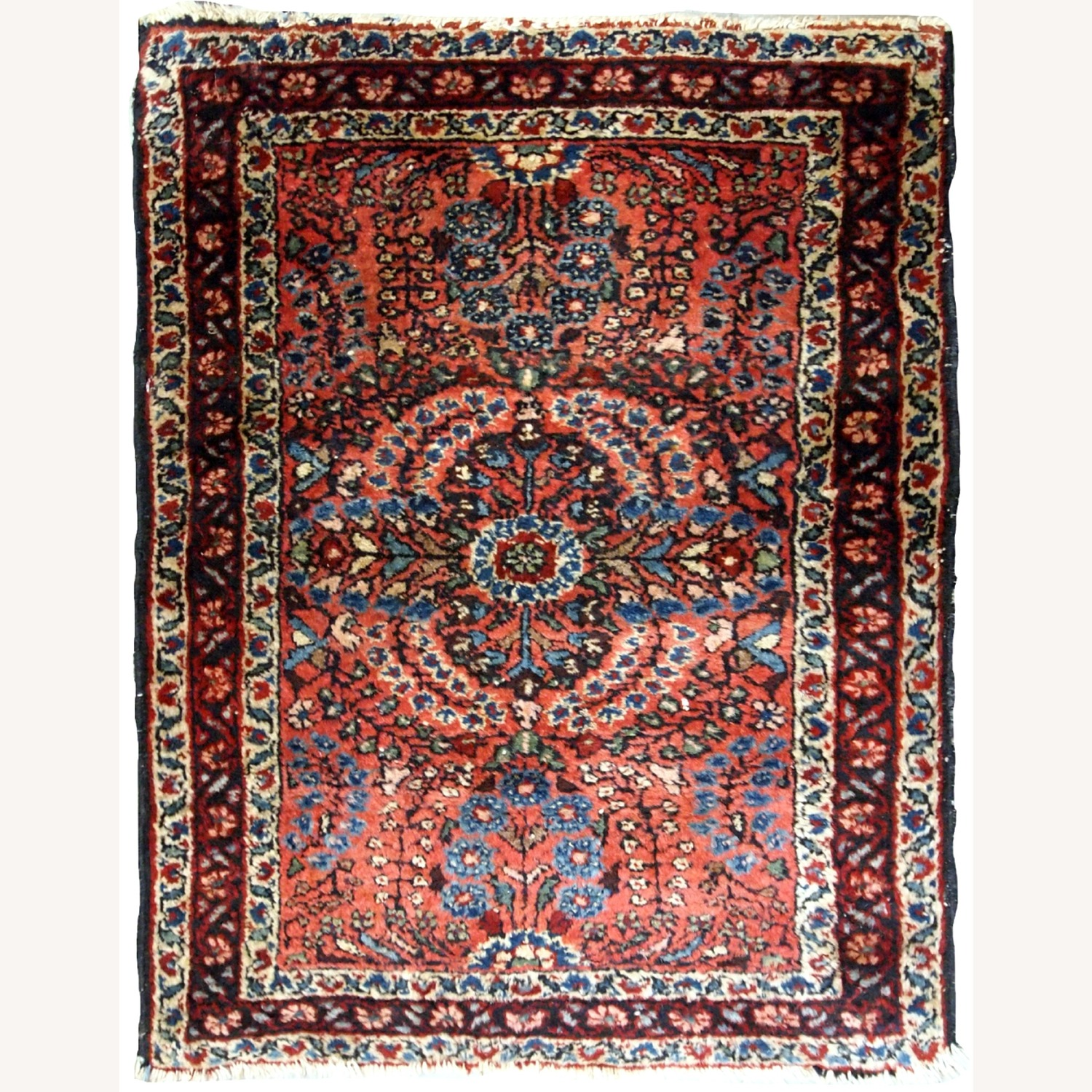 Handmade Antique Persian Sarouk Rug