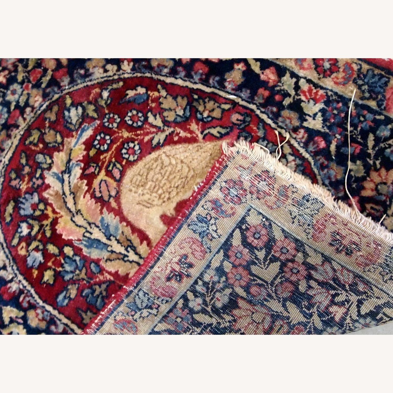 Handmade Antique Persian Kerman Lavar Rug