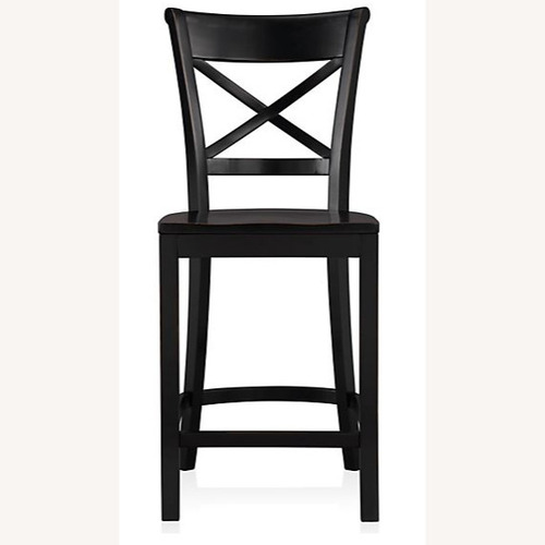 Used Crate & Barrel Black X Counter Stool for sale on AptDeco