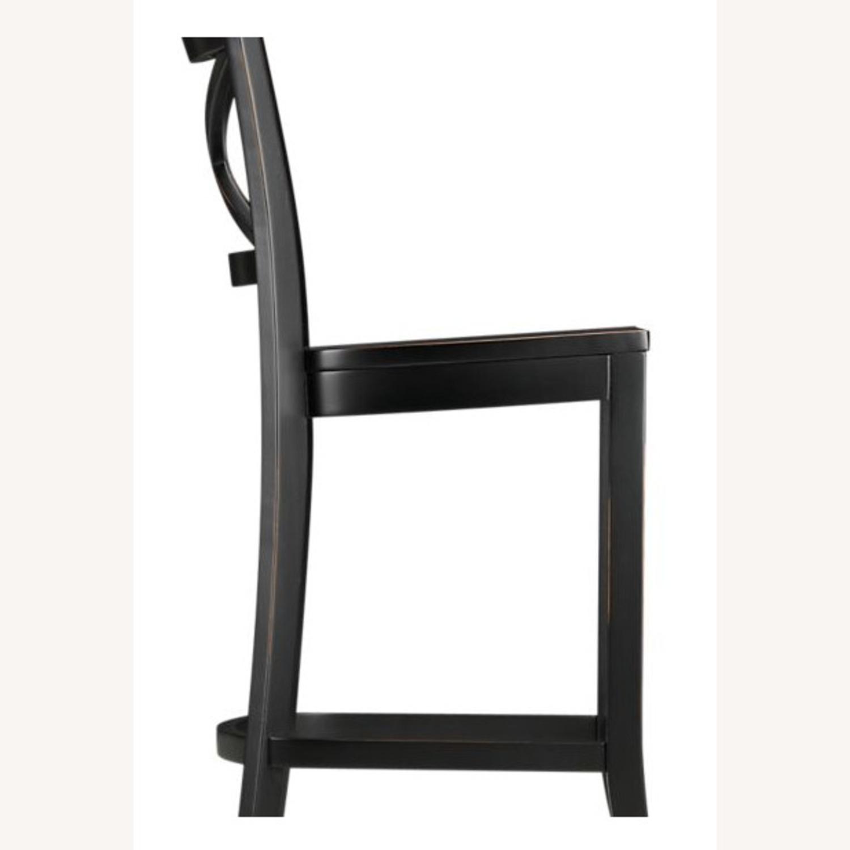 Crate & Barrel Black X Counter Stool - image-3