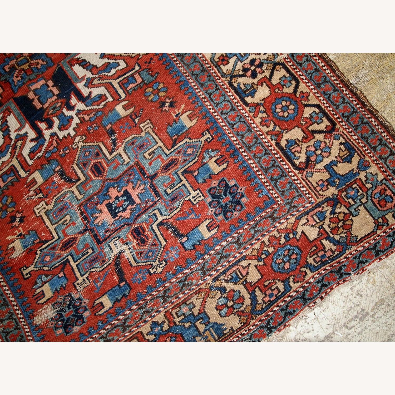 Handmade Antique Persian Heriz Distressed Rug - image-15