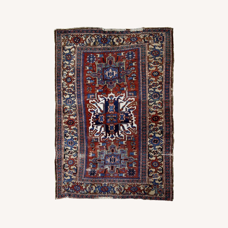 Handmade Antique Persian Heriz Distressed Rug - image-0