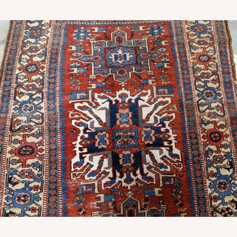 Handmade Antique Persian Heriz Distressed Rug - image-14