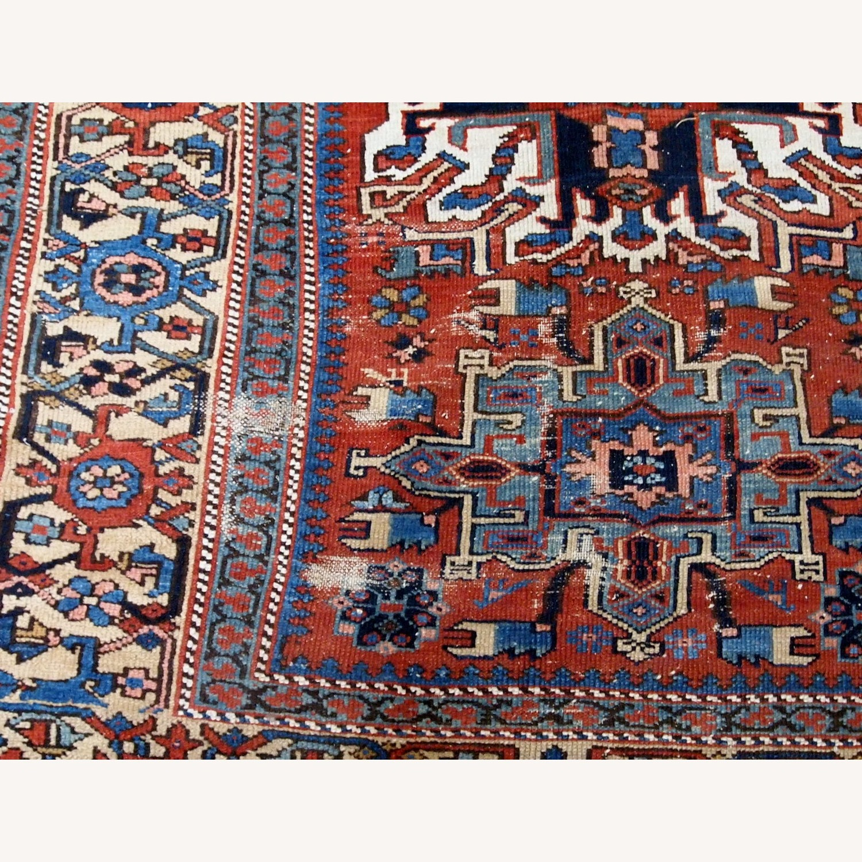 Handmade Antique Persian Heriz Distressed Rug - image-13