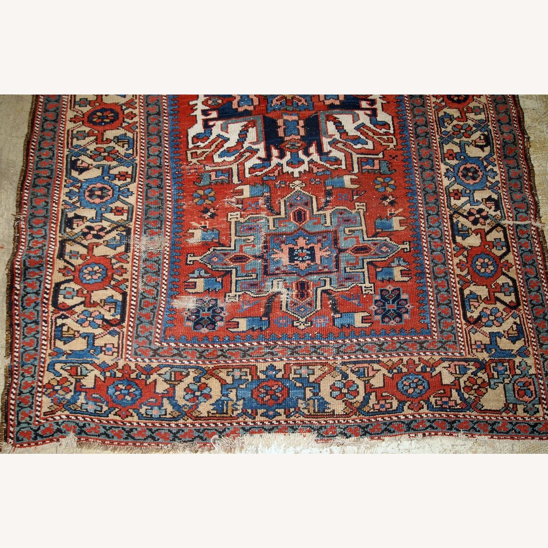 Handmade Antique Persian Heriz Distressed Rug - image-9