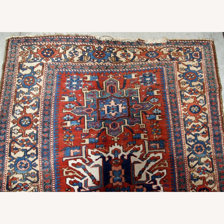 Handmade Antique Persian Heriz Distressed Rug - image-3