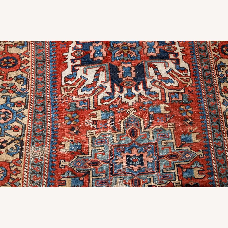 Handmade Antique Persian Heriz Distressed Rug - image-6