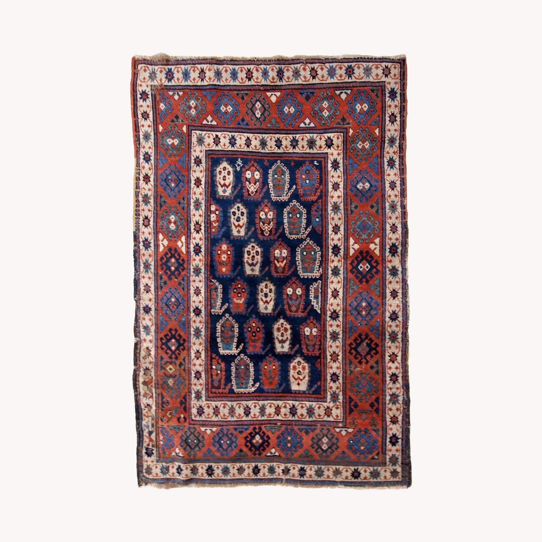 Handmade Antique Caucasian Kazak Rug - image-0
