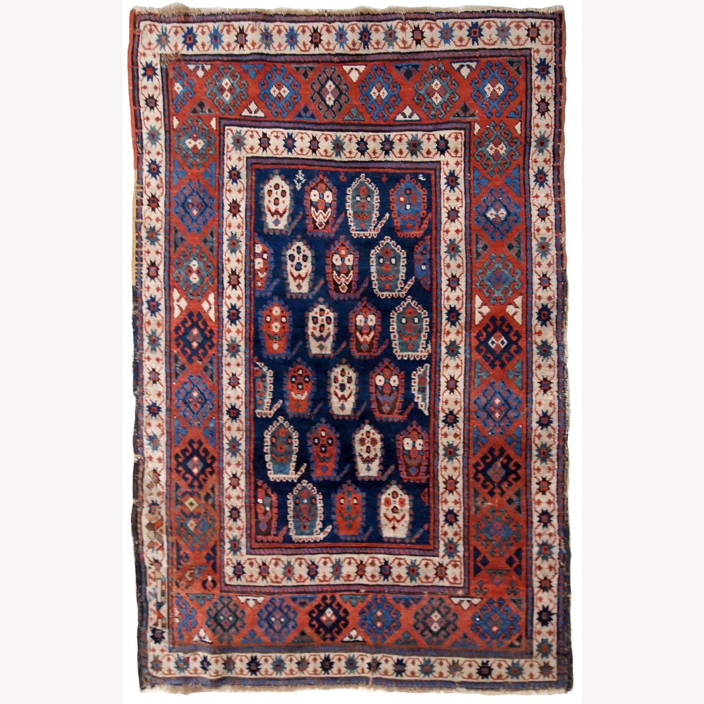 Handmade Antique Caucasian Kazak Rug - image-1
