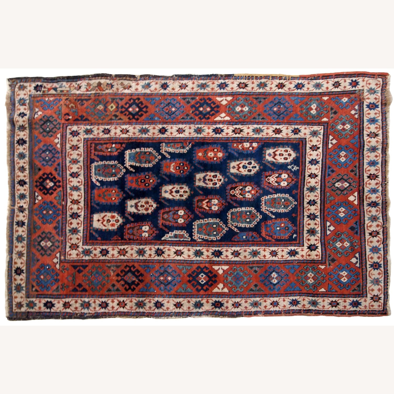 Handmade Antique Caucasian Kazak Rug - image-6