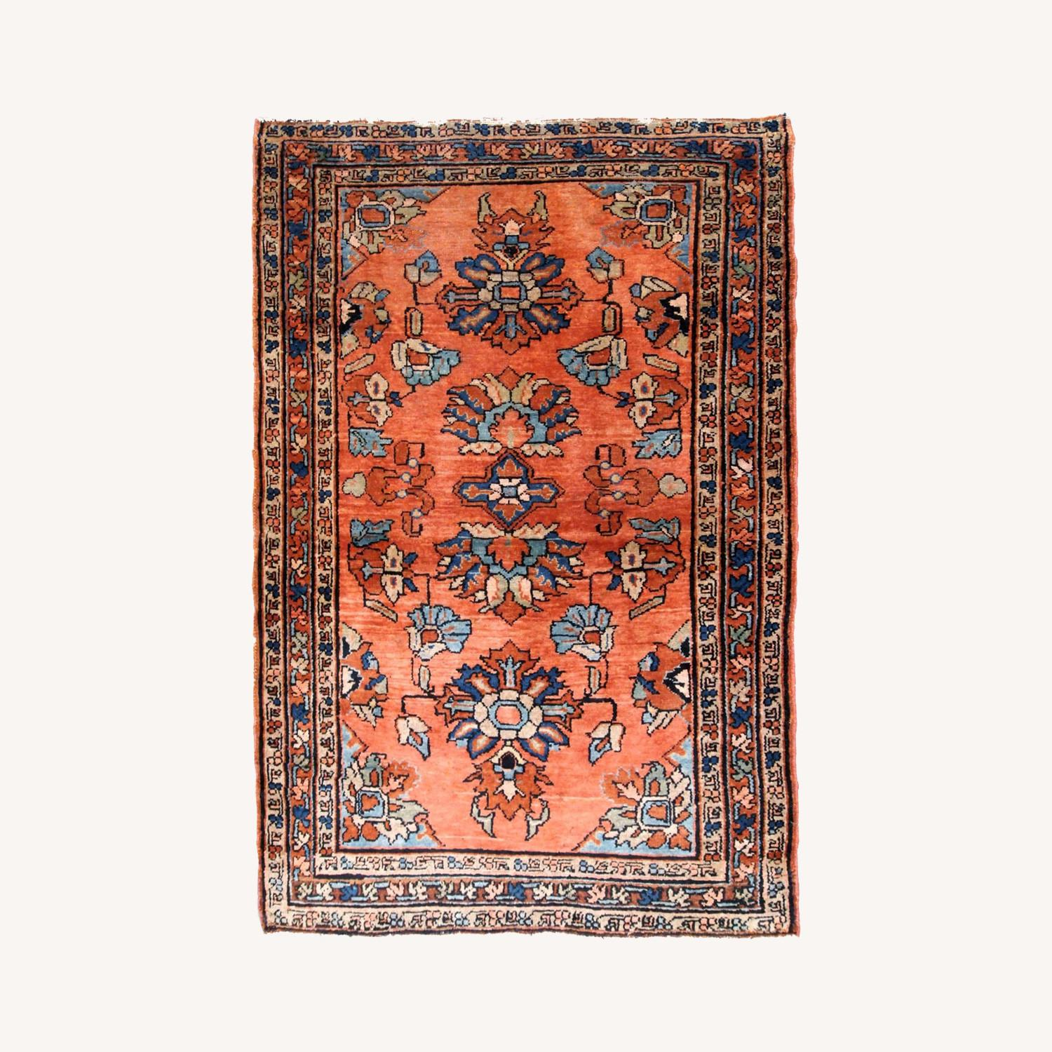 Handmade Antique Persian Lilihan Rug - image-0
