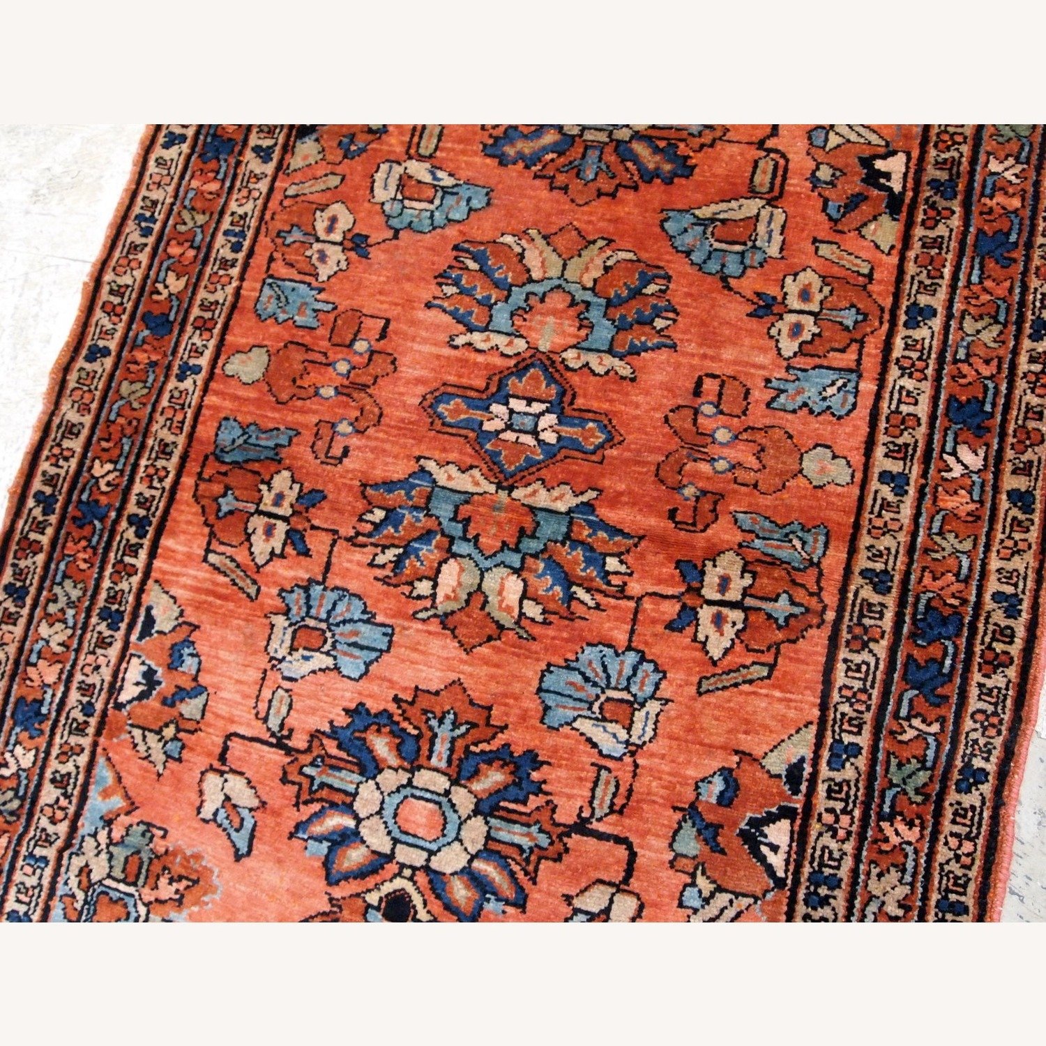 Handmade Antique Persian Lilihan Rug - image-6