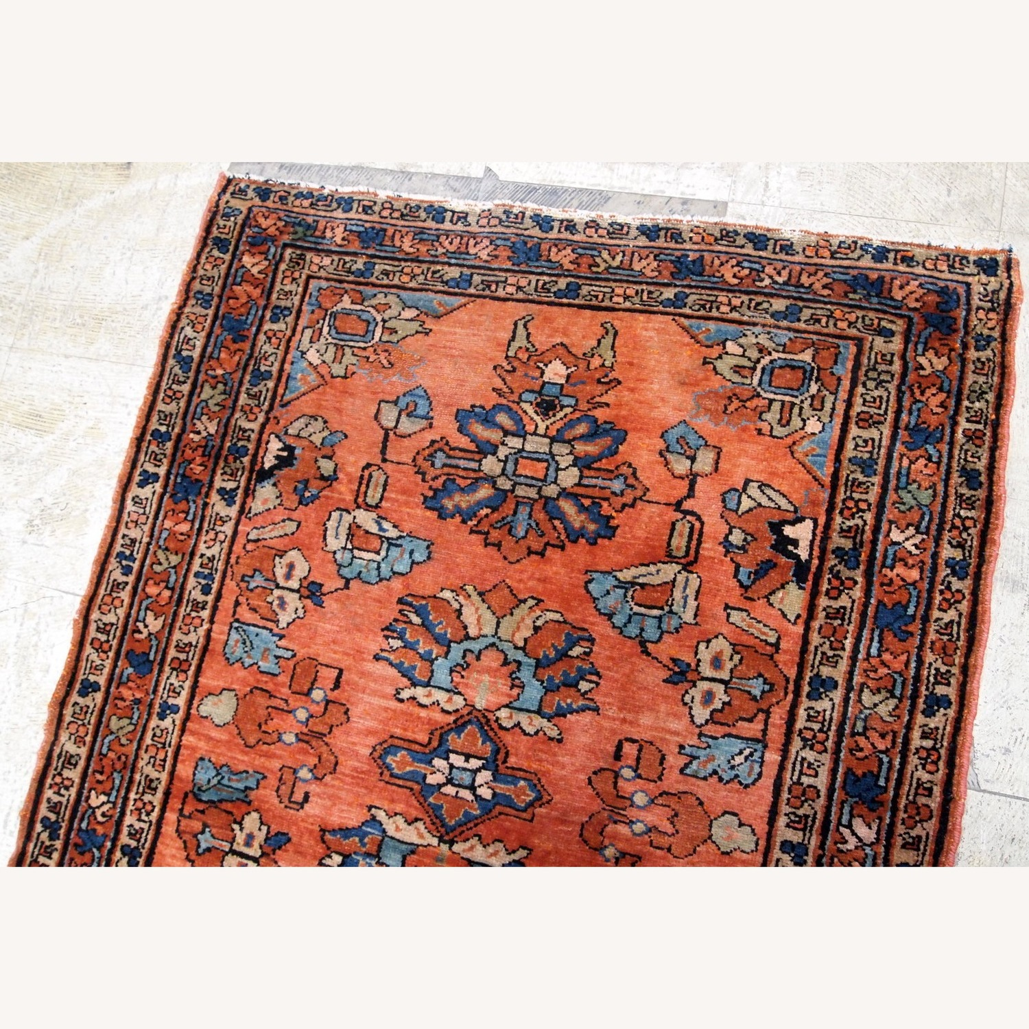 Handmade Antique Persian Lilihan Rug - image-5