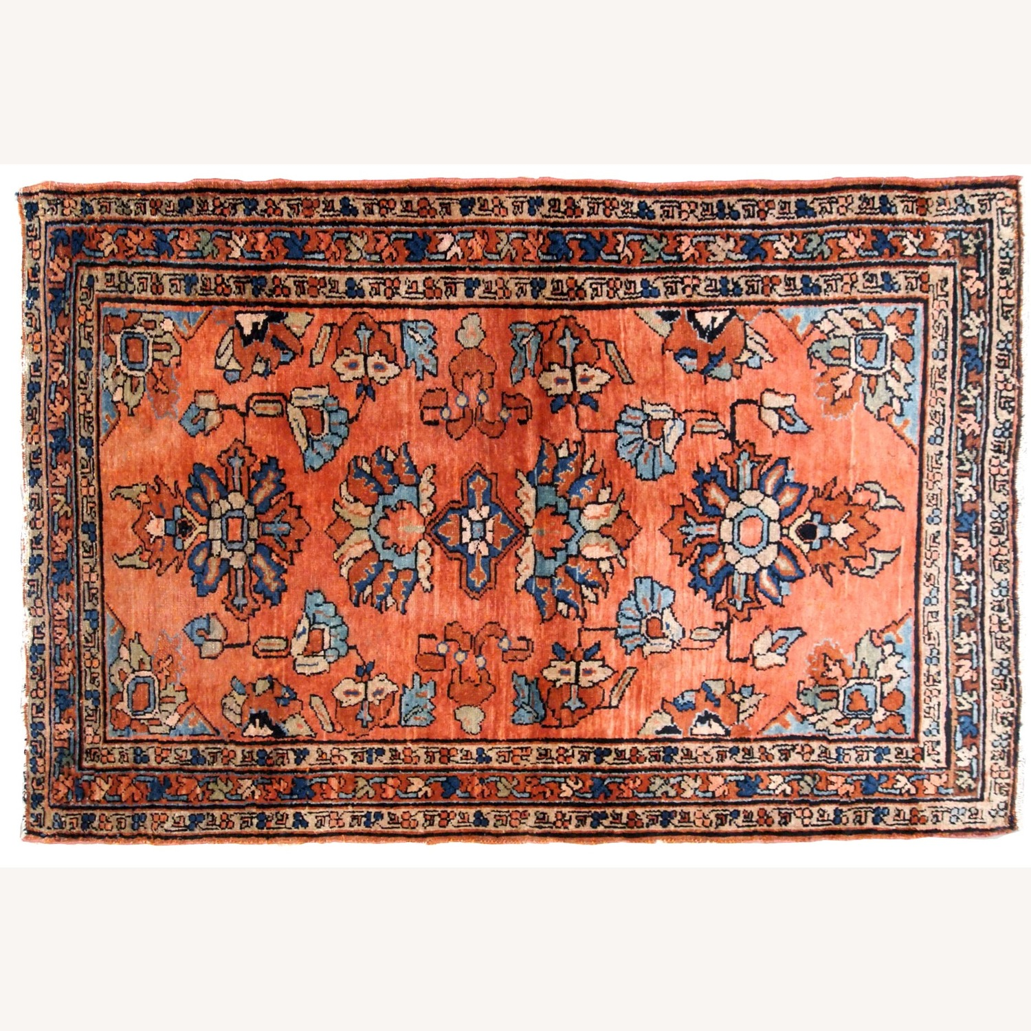 Handmade Antique Persian Lilihan Rug - image-7