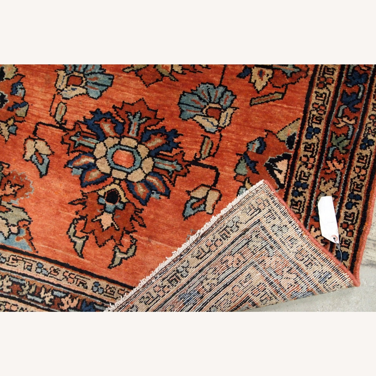 Handmade Antique Persian Lilihan Rug - image-4