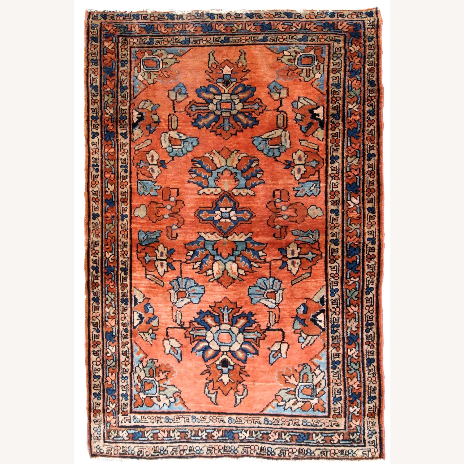 Handmade Antique Persian Lilihan Rug - image-1