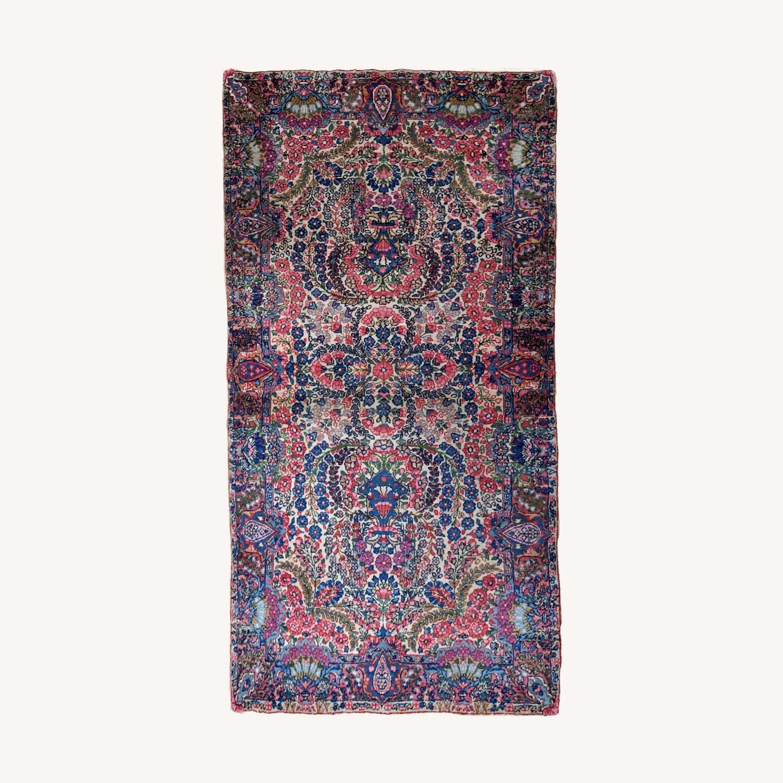Handmade Antique Persian Kerman Rug - image-0