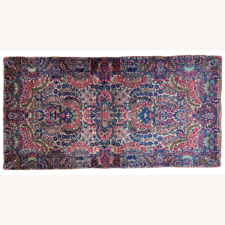 Handmade Antique Persian Kerman Rug - image-8