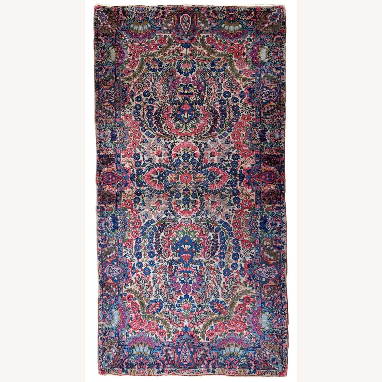 Handmade Antique Persian Kerman Rug - image-1